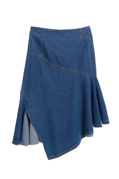 Irregular denim skirt