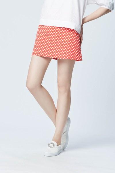 Vintage brick red A line skirt