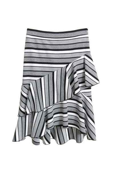 Striped fishtail skirt