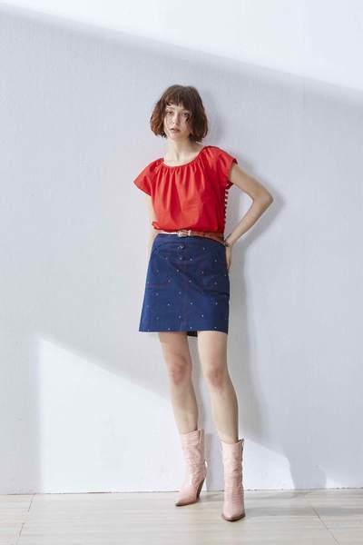 Stitching geometric skirt