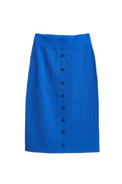 Ribbed classic skirt