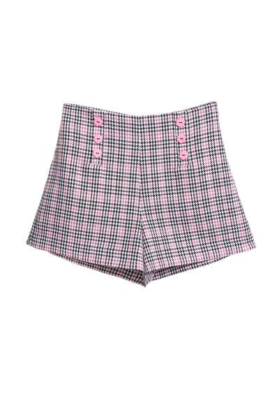 Plaid design shorts
