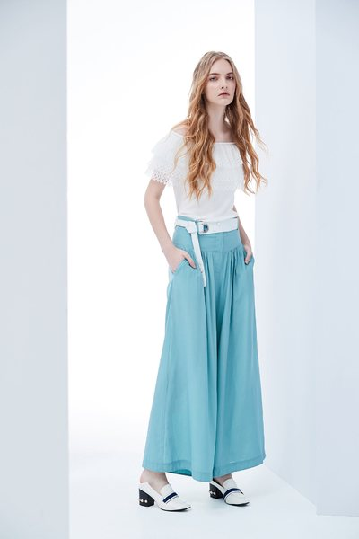 High waist design culottes
