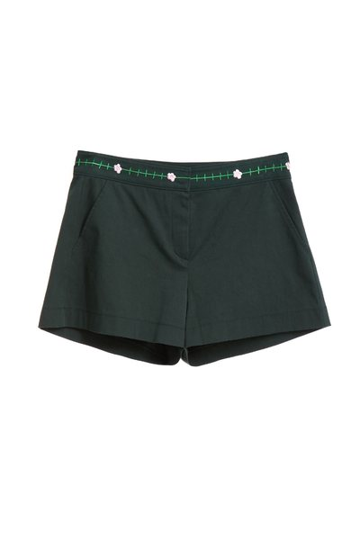 Embroidered waist shorts
