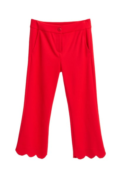Scalloped Hem Trousers