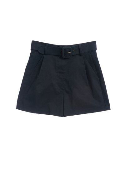 Vintage ink green pleated shorts