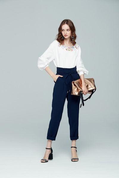 Flowy drawstring pants