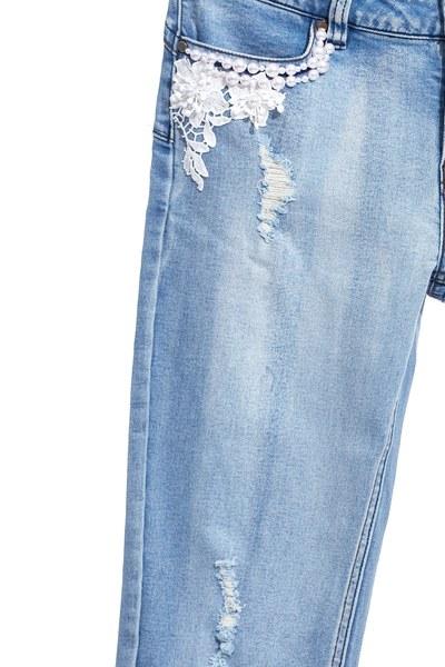 Vintage wash broken jeans