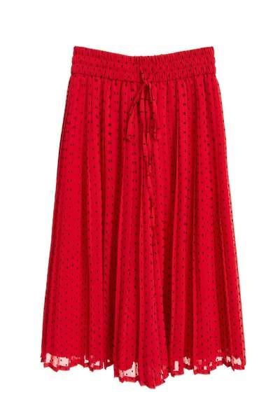 Dot strap hundred pleated skirt