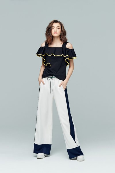 Elegant color matching pants