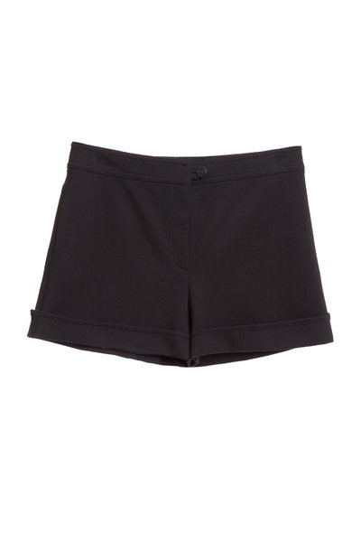 Plain face anti-pleated shorts