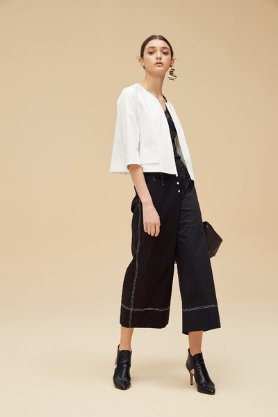Buckle stiching design culottes