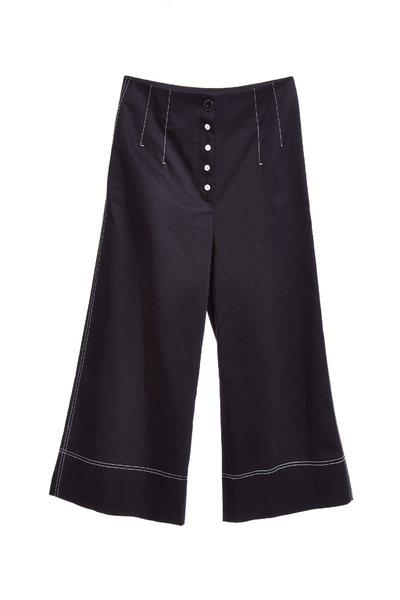 Buckle stiching design culottes