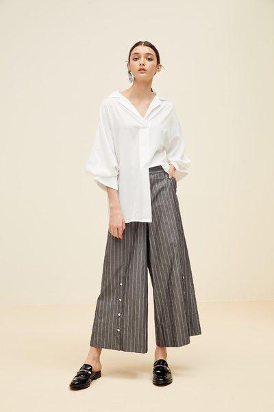Straight strip design culottes
