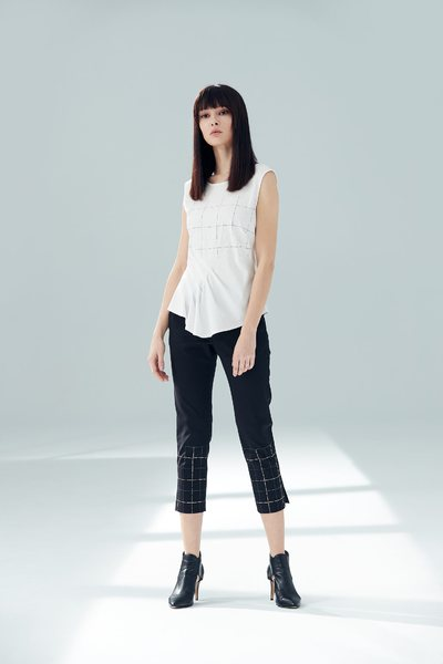 Plaid fit trousers
