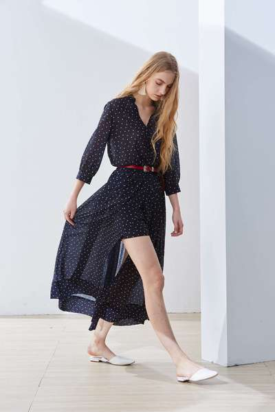 Elegant polka dot fashion dress