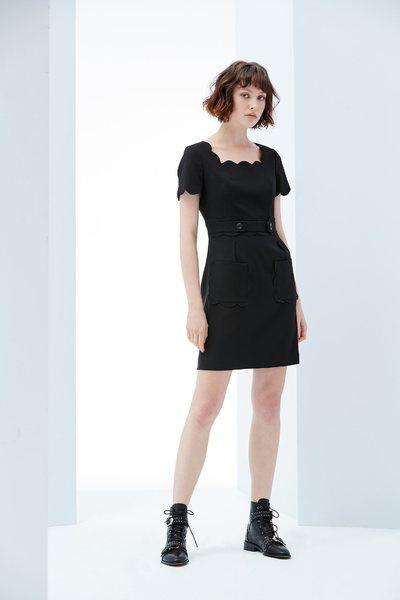 Elegant woman fashion dress