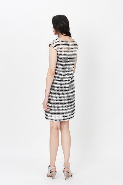 Black and white solid dress