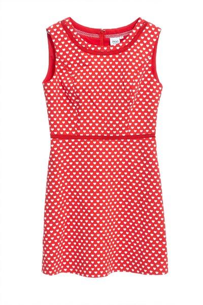Vintage brick red dress