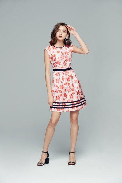 Vintage pattern design dress