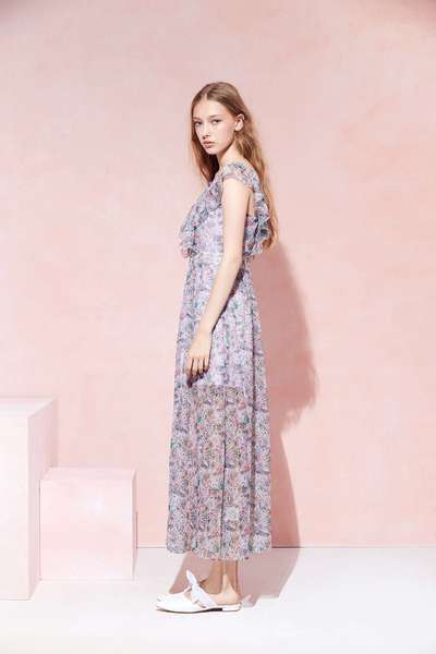 Elegant floral design dress