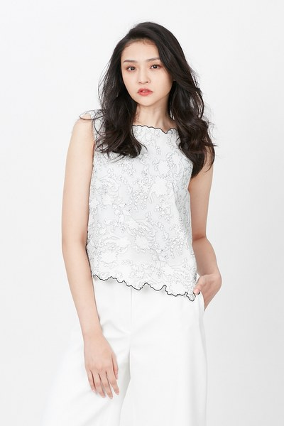 Elegant vest with abstract pattern