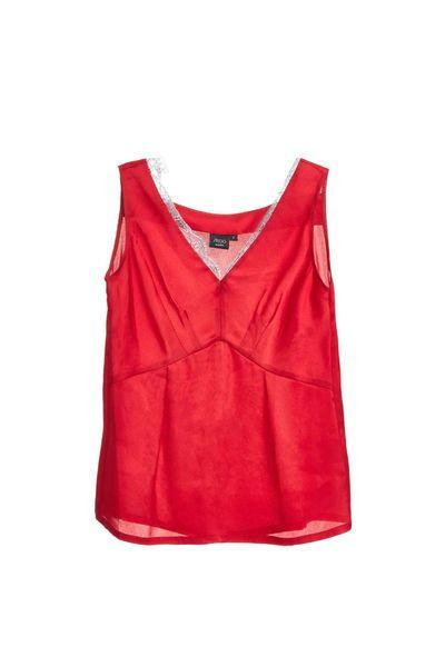 V-neck stitching vest