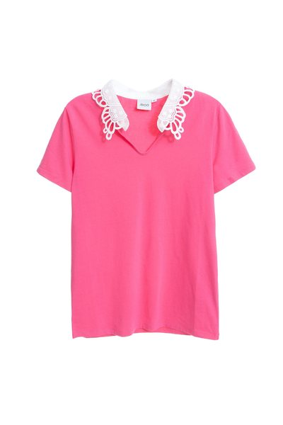 Butterfly collar fashion top