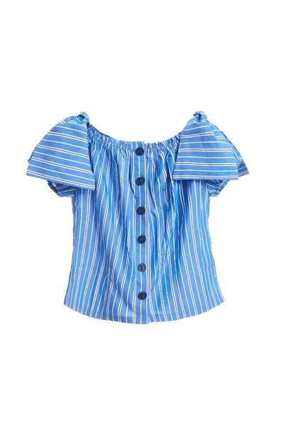 Stripped short sleeves shirt