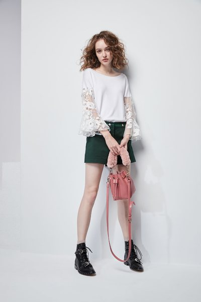 Mixed lace shirts
