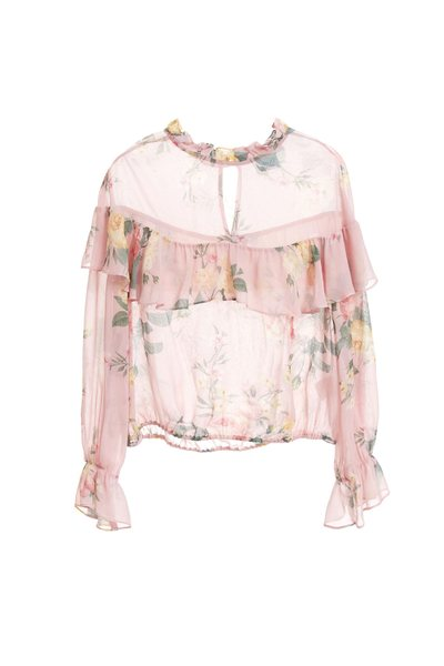 Romantic chiffon shirt