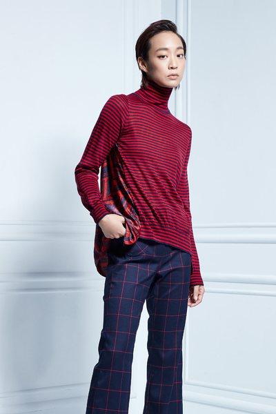 Geometrical mixing sweater