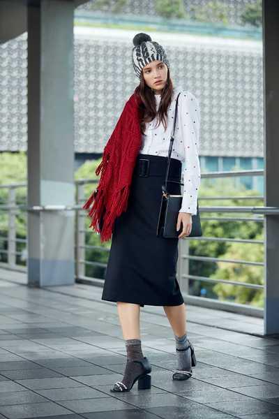 Micro stand collar ladies fashion blouse