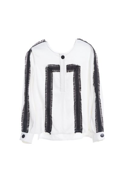 White floral tassel  jacket