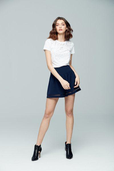 Decorative cotton T-shirt