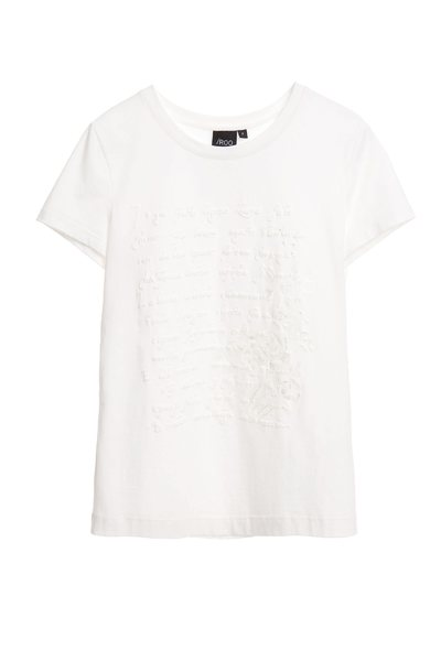 Embroidered foam print T-shirt