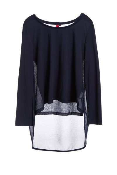 Navy Textured Top
