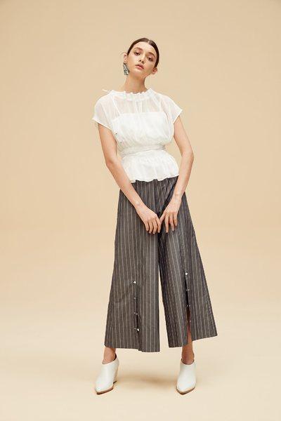 White stitching design top