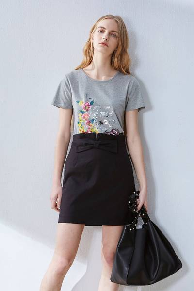 Romantic flower T-shirt