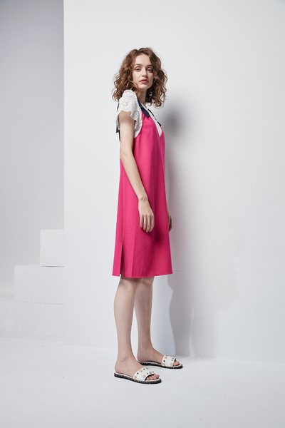 Stitching sleeve design top