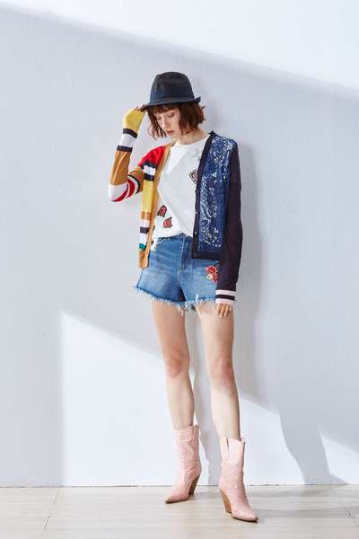 Different material stitching design jacket