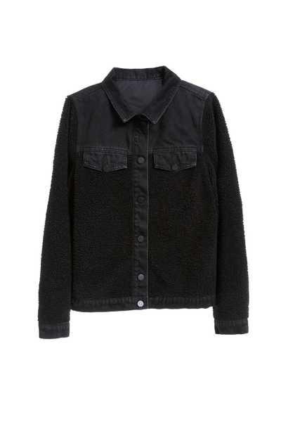 Faux shearling Denim Jacket