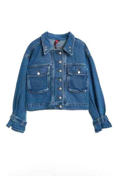 Trench coat cuffs denim jacket