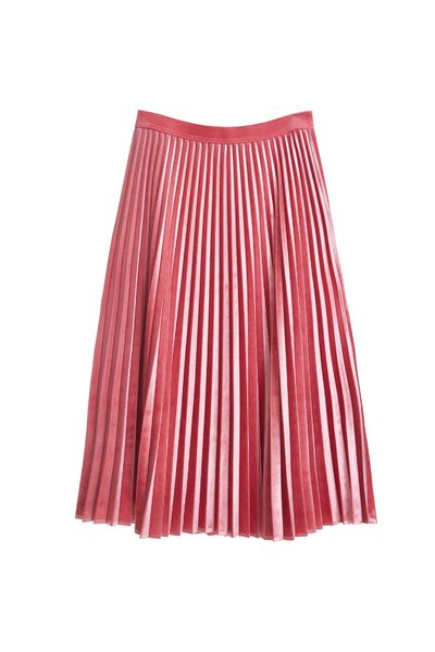 Pleated skirt with pink color
