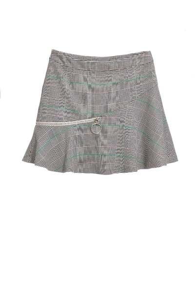 Plaid umbrella fashion pop skirt