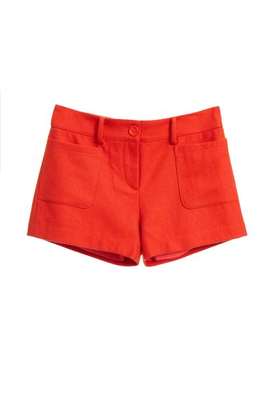 Wool basic shorts