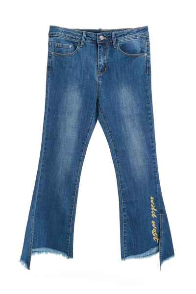 Small horn denim trousers