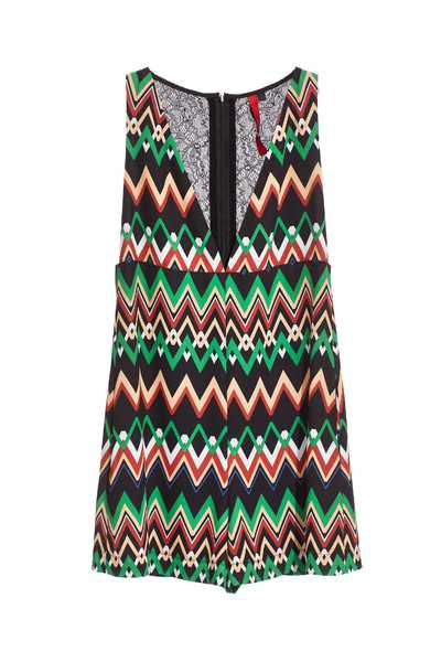 Ripple Totem Fashion Sleeveless Jumpsuit