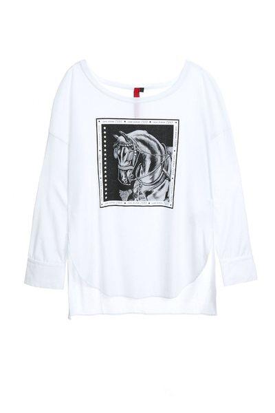 Printed long-sleeved T-shirt