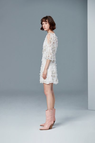 Temperament V-neck long-sleeved dress